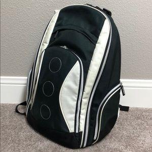 Backpack laptop school commuter office black cream